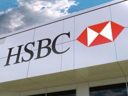Enseigne commerciale de la HSBC.