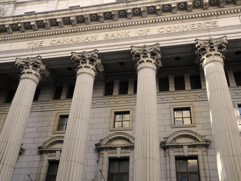 Édifice de la Canadian Bank of Commerce, dans le Vieux-Montréal, Québec.