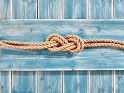 Noeud dans une double corde.