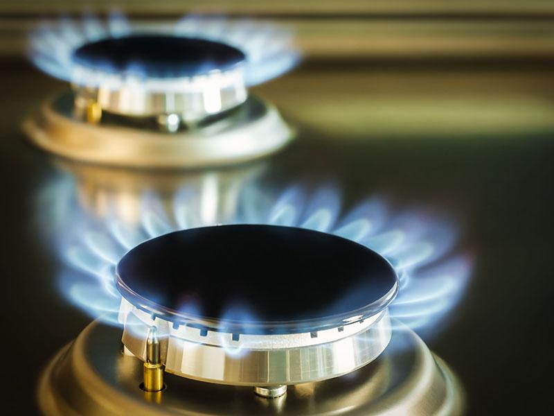 Cuisinière au gaz naturel
