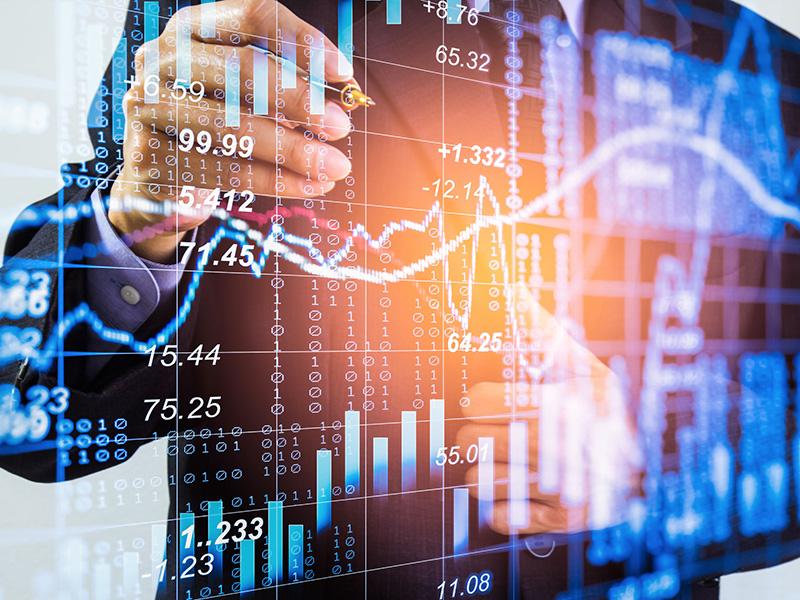 Conseiller analysant le marché boursier.