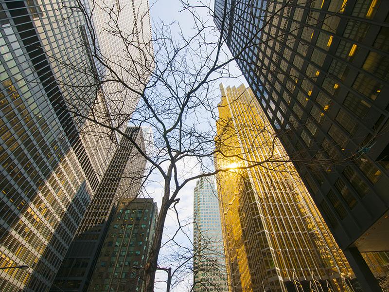 Grattes-ciels du quartier financier de Toronto.