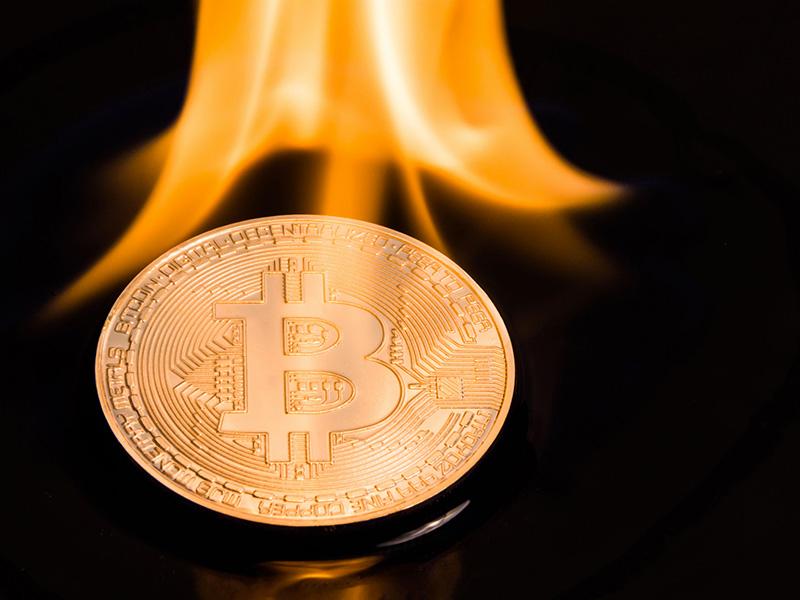 Bitcoin en feu.