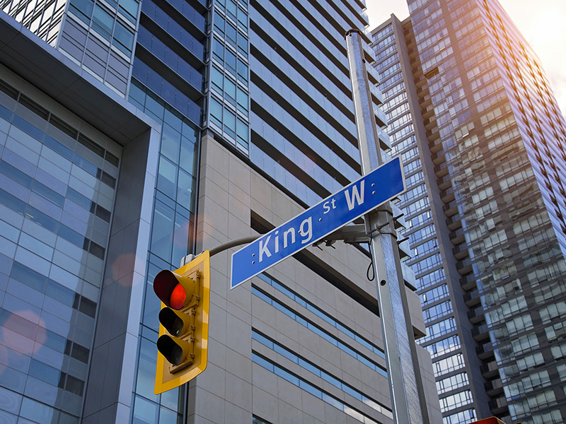 Rue King Ouest, à Toronto.