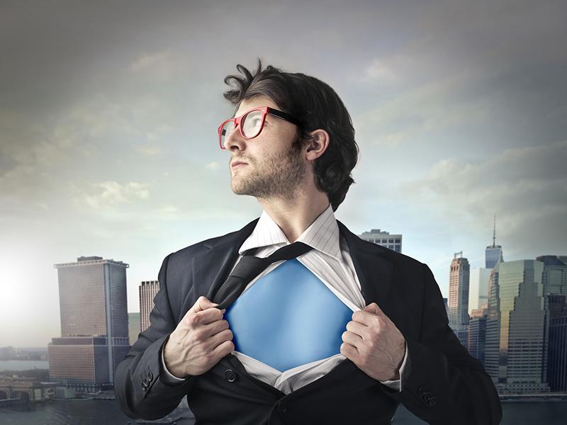 Homme d'affaires super-héros.