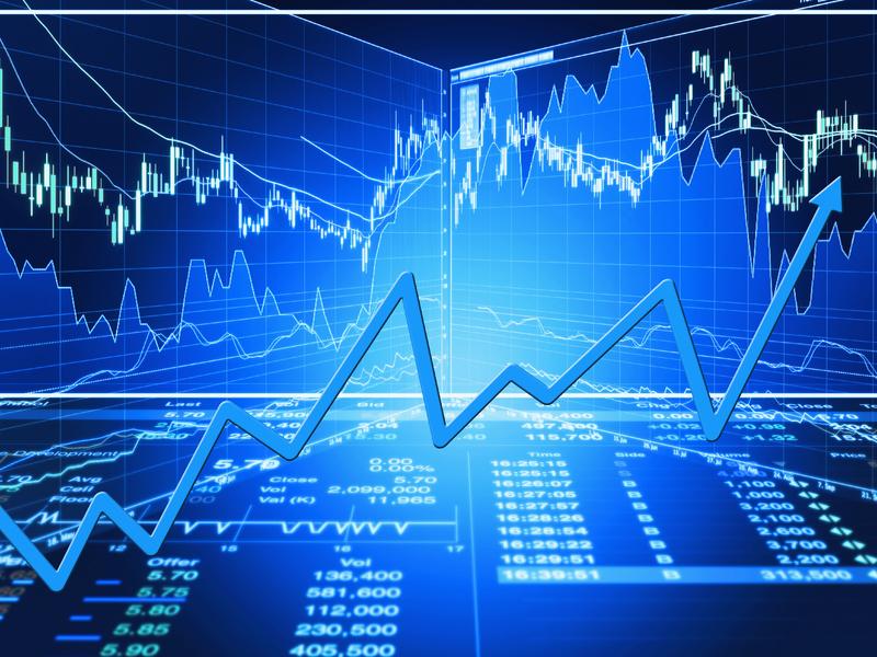 Graphique de marché boursier.