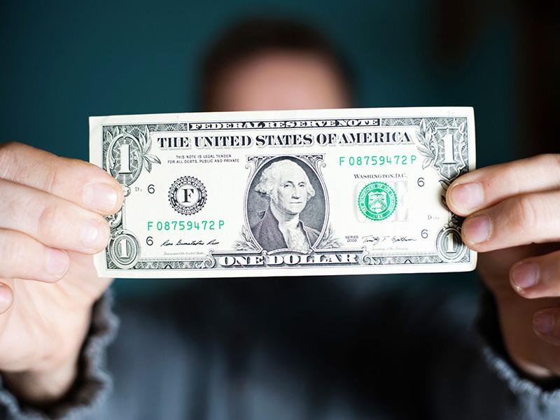 Billet de un dollar américain.