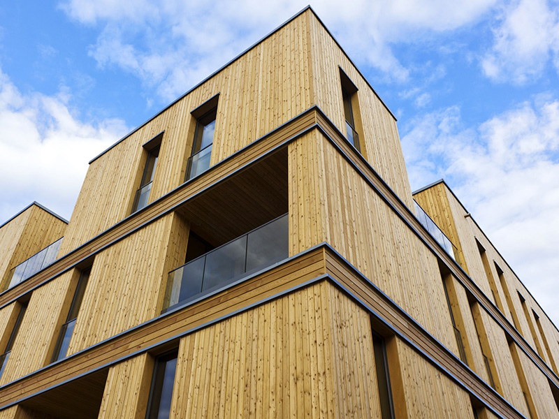 Immeuble contemporain en bois.