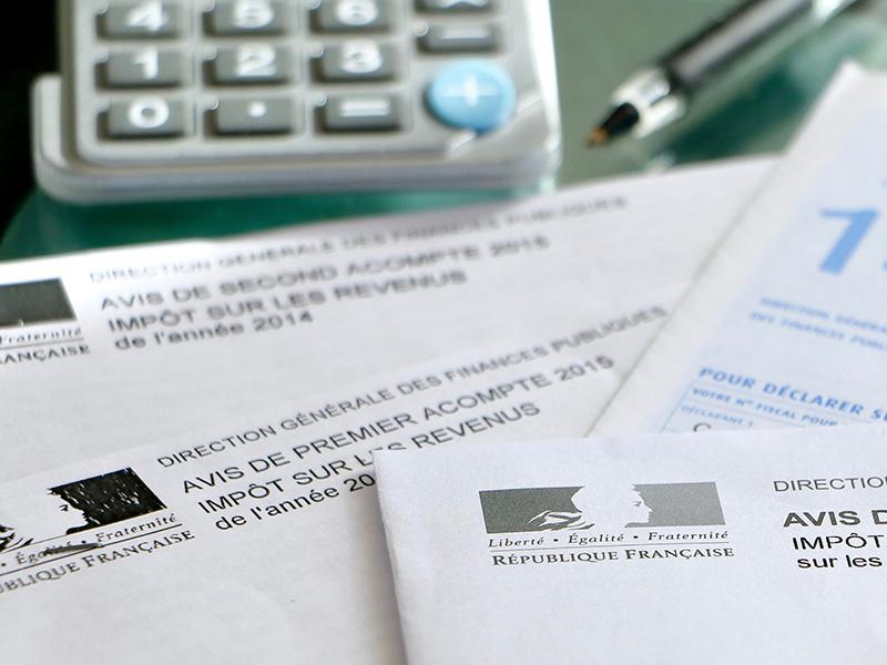 Déclaration de revenus française.