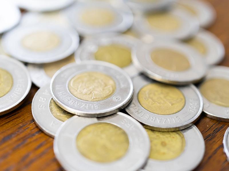 Pièces de monnaie canadienne.