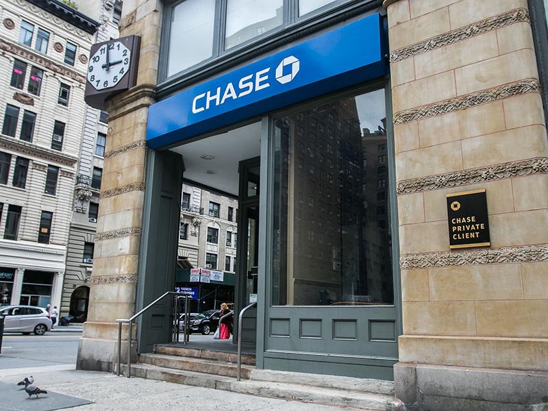 Succursale de la banque américaine Chase, à New-York.