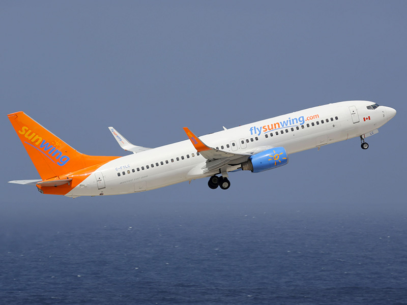 Avion du voyagiste Sunwing.