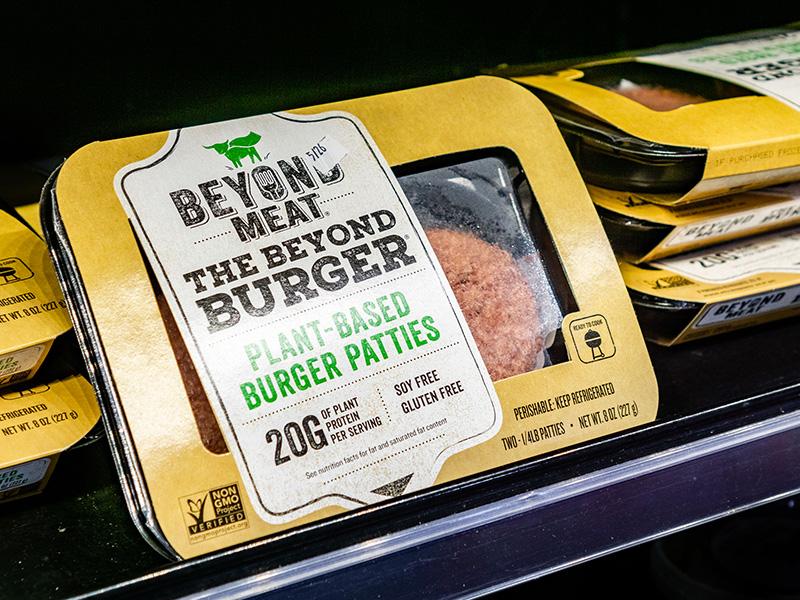 Emballage de galettes de burgers Beyond Meat.