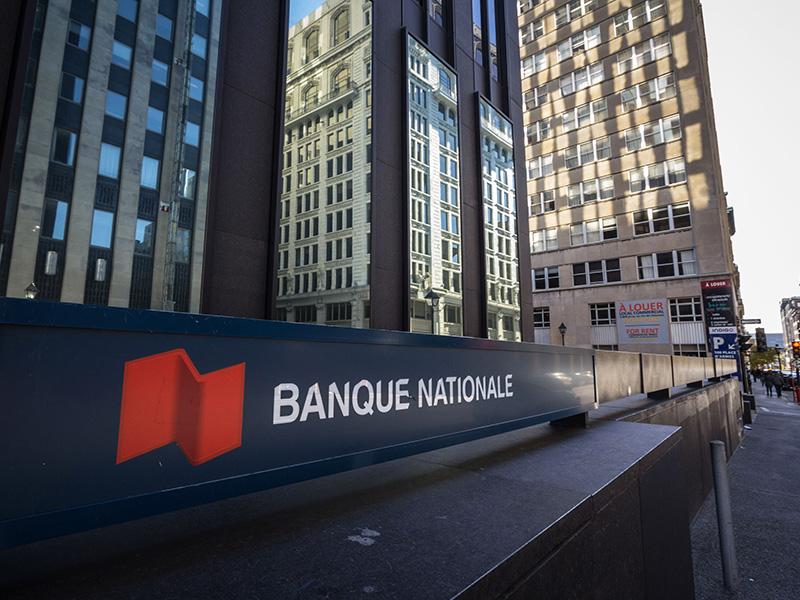 Édifice d'une succursale de la Banque Nationale, à Montréal.
