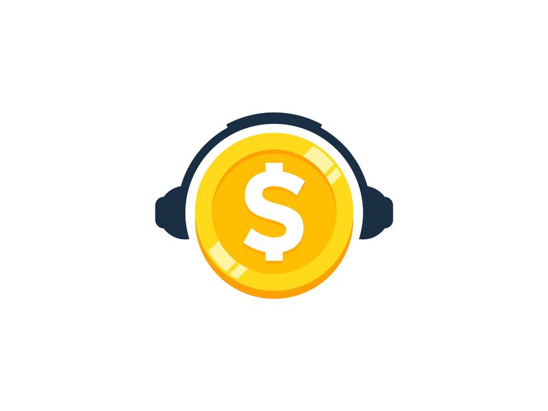 Une pièce de monnaie avec des écouteurs.
