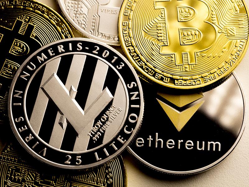 Bitcoin, litecoin, ethereum