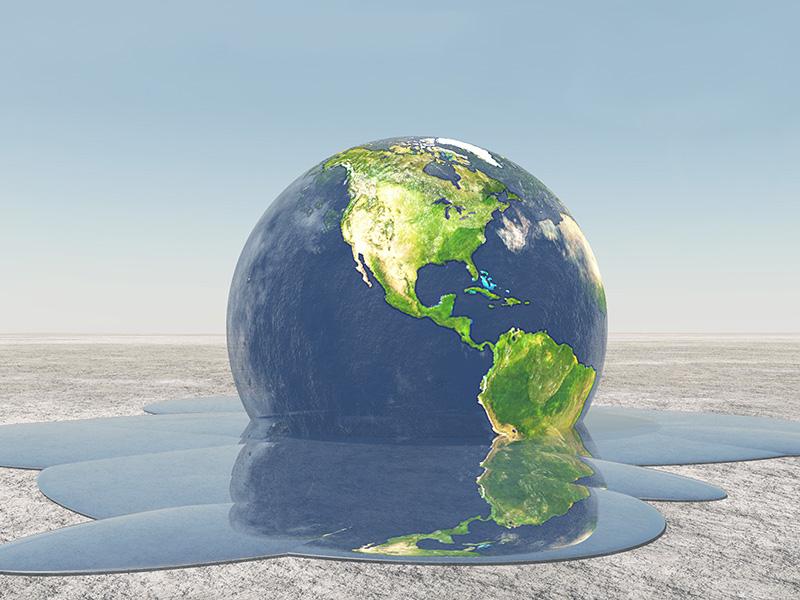 La Terre dont les océans se liquéfient.
