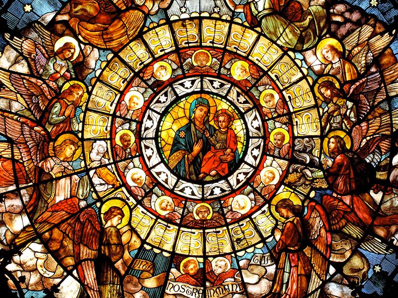 Un vitrail d'église