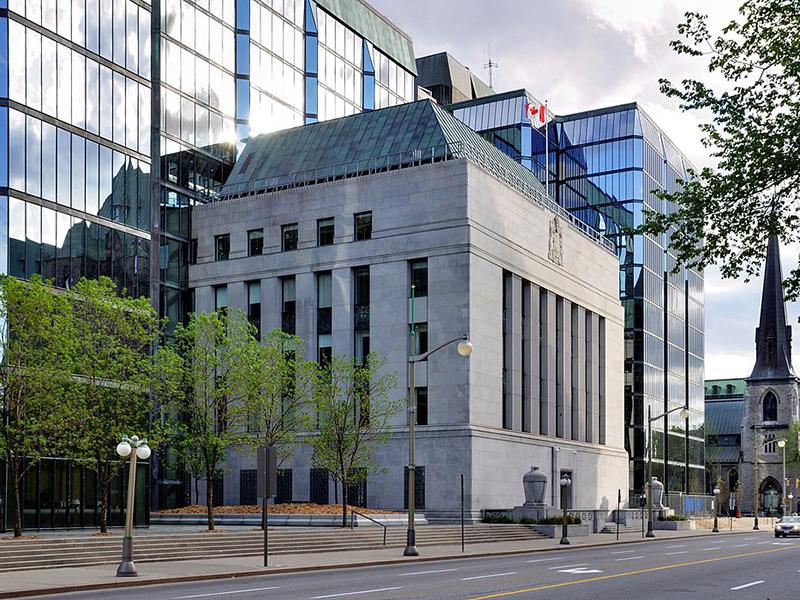 Édifice de la Banque du Canada à Ottawa.