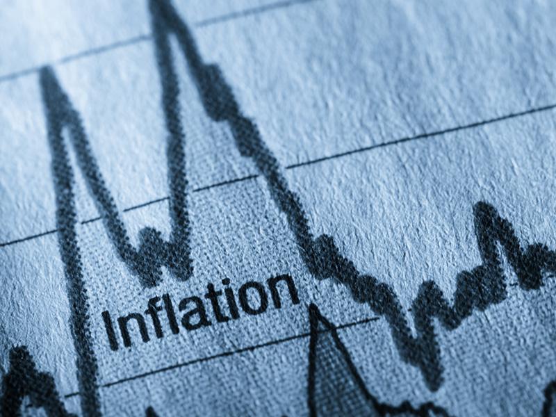 """Courbe sur un graphique sur lequel il est écrit """"inflation""""."""
