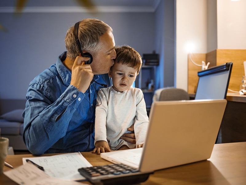 Télétravailler avec un enfant