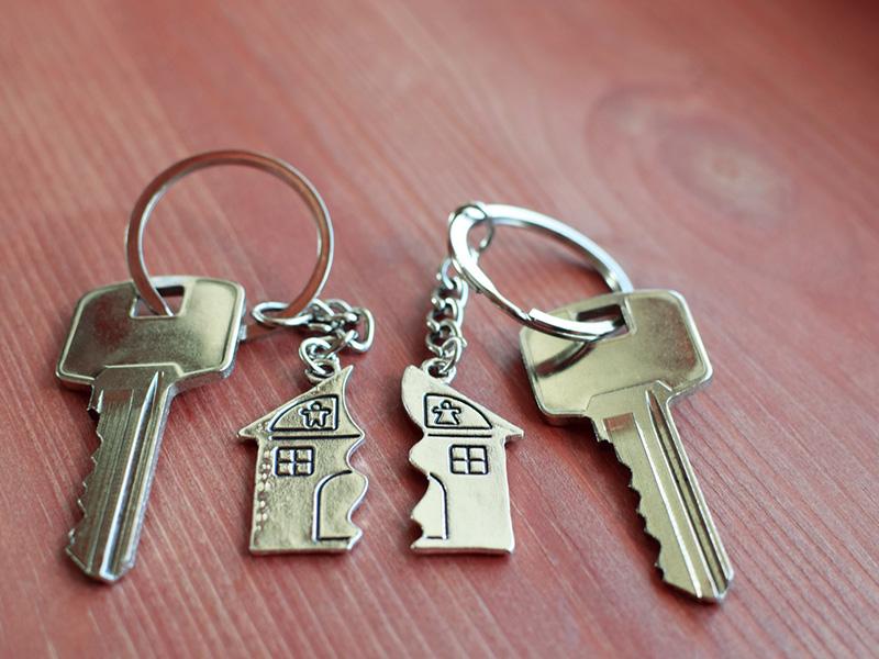 Porte-clés brisé en deux