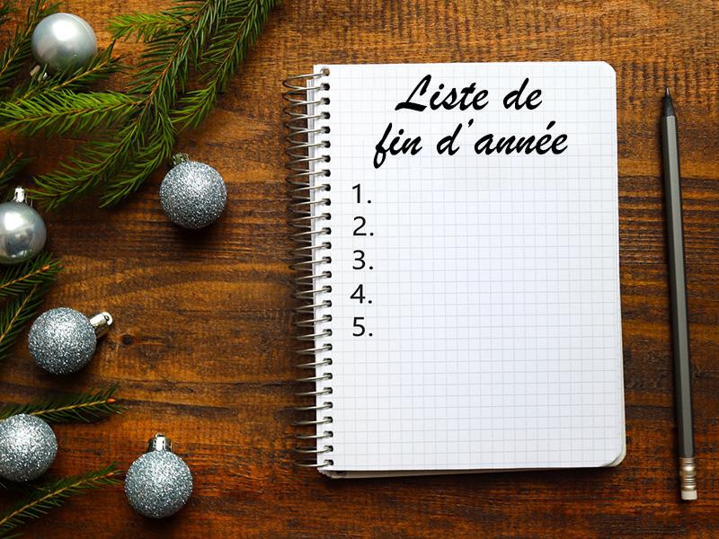 Liste de fin d'année